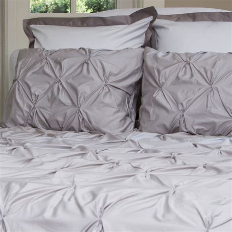 Pintuck Duvet Cover 400 Thread Count Pintuck Duvet Cover The Valencia Dove