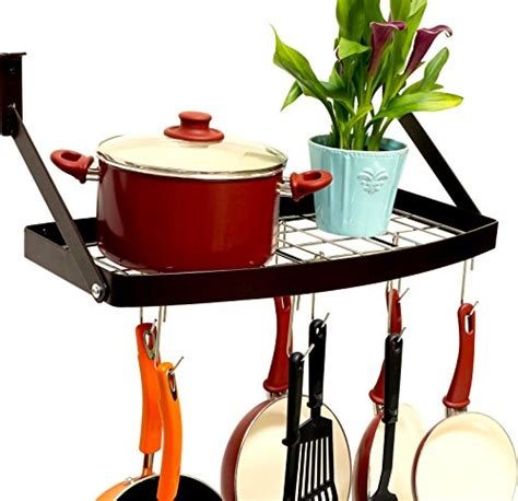 Hanging Pot Organizer Pot Pan Organizer Rack Shelf Hanging Cookware Holder Wall