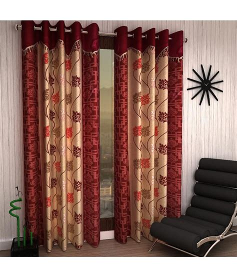 cost of curtains home sizzler red polyester window curtain set of 2 buy