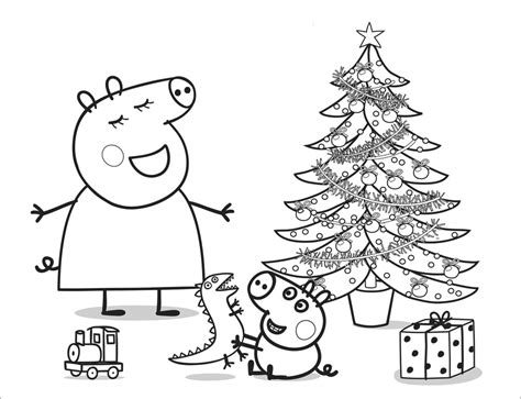 christmas colouring pages peppa pig peppa pig para colorear best coloring pages for kids