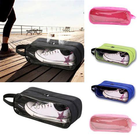 Tas Sepatu Travel Transparan tas sepatu transparan 1 sisi shoes bag travel organizer elevenia