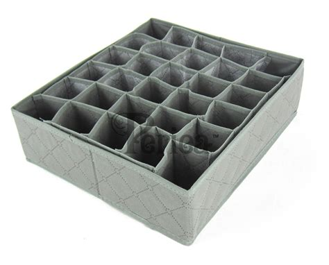 Drawer Compartment Organiser by 30 Compartment Drawer Organiser Fosy Grey