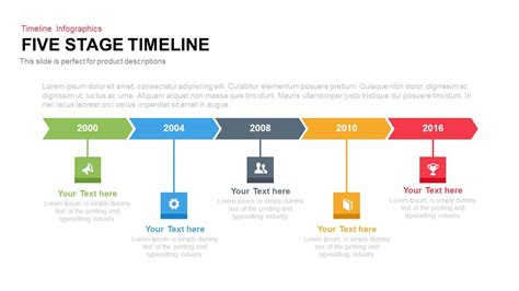 creative stage timeline powerpoint and keynote template