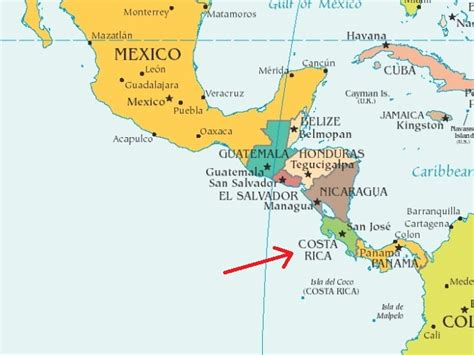 south america map costa rica thanks mail carrier dreaming of costa rica vacations