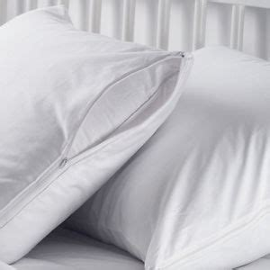 bed pillow covers zippered 2 white hotel hypoallergenic pillow case zippered bed bug