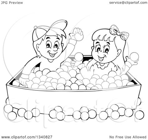 lineart clipart of a cartoon black and white boy and