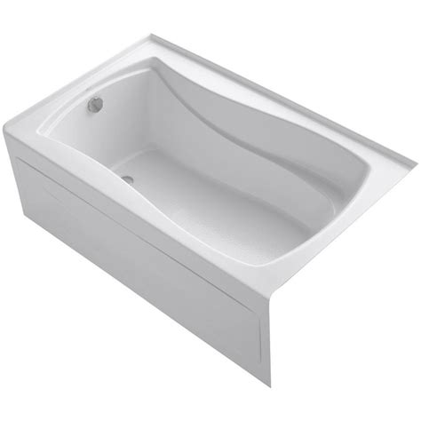 Heated Bathtub by Kohler Mariposa 5 Ft Left Drain Bathtub In White With