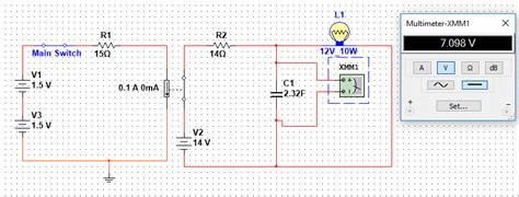 capacitor charging multisim solved capacitor not charging to supply voltage discussion forums national instruments