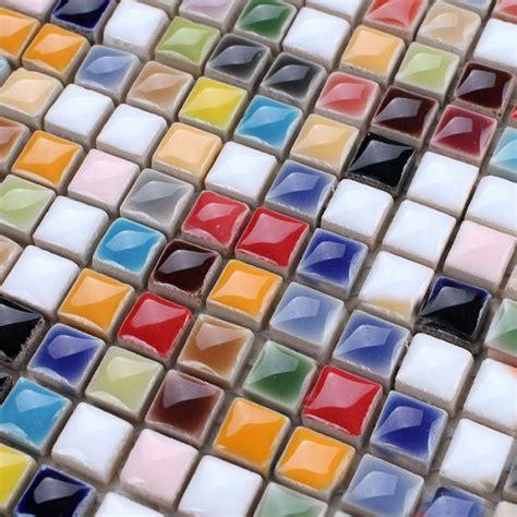 Hand Painted Tiles For Kitchen Backsplash Glaze Porcelain Mosaic Tile Colorful Kitchen Wall Tiles