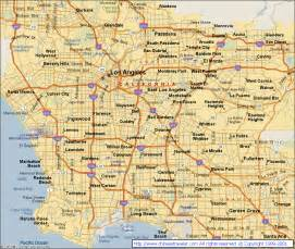 los angeles california city map los angeles california