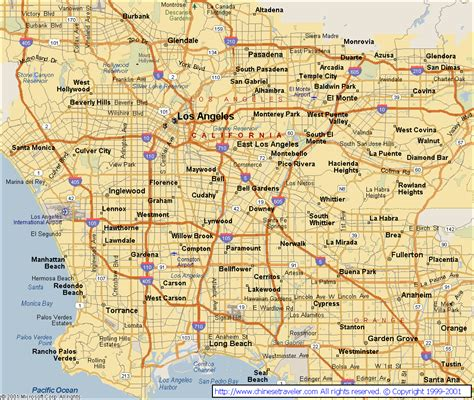 map los angeles map of los angeles california vacations travel map