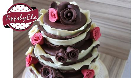 hochzeitstorte selber backen ohne fondant 3 st 246 ckige torte verlobungstorte mit schokoladen