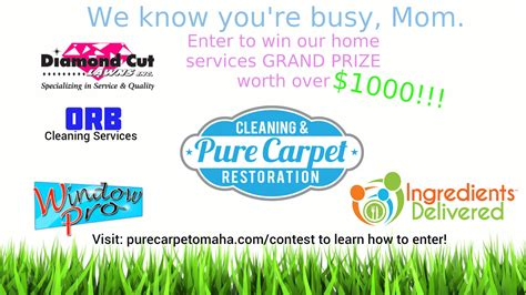 Mom Contests Giveaways - busy mom contest pure carpet omaha