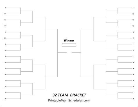 32 team tournament bracket wide version tournament bracket free printable 32 team tournament