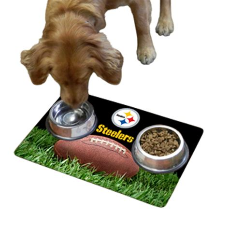 Pet Bowl Mat by Pittsburgh Steelers Pet Bowl Mat With Same Day Shipping
