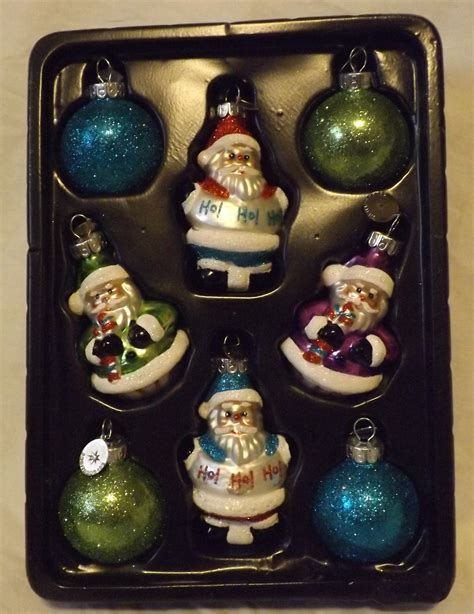 radko glass ornaments 8 count santa rounds christopher radko