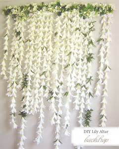 Do it yourself weddings diy easter lily backdrop