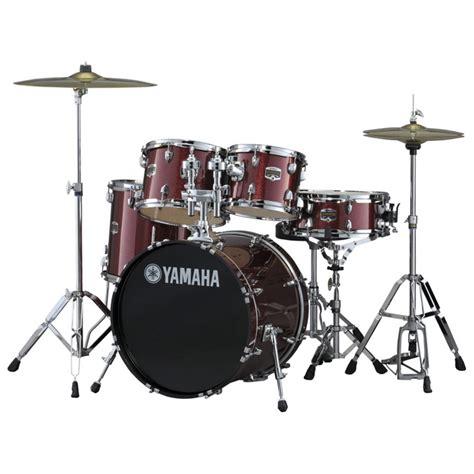yamaha gigmaker 20 fusion drum kit burgundy glitter at