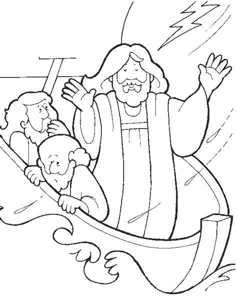 boten kristendom free coloring pages of jesus sleeping in boat