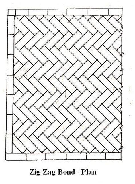 zigzag brick pattern types of brick bonds the construction civil