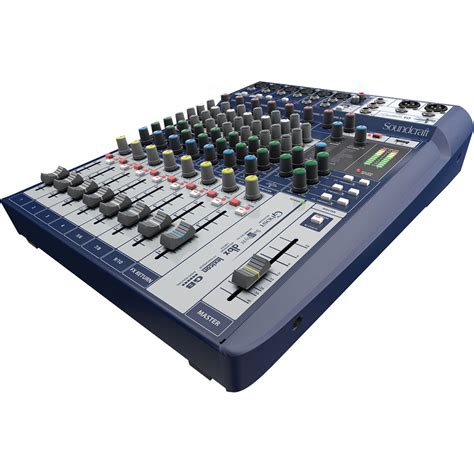 Mixer Audio 10 Channel soundcraft signature 10 10 input mixer with effects