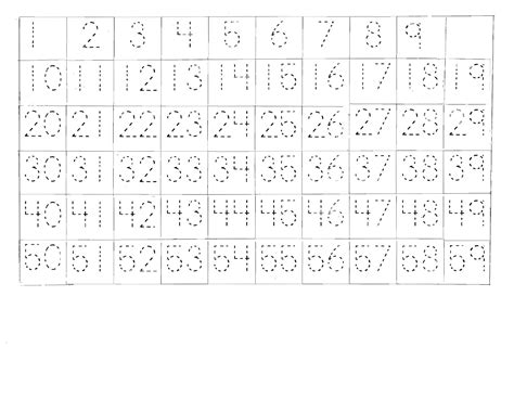 Free Printable Tracing Numbers 1 100 | image gallery tracing 1 100 printable
