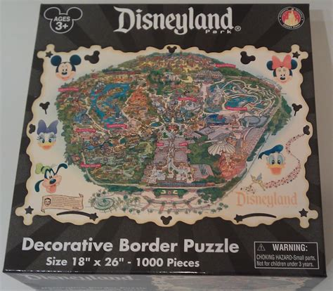 disneyland decorative border puzzle map gamusik disneyland park decorative border puzzle