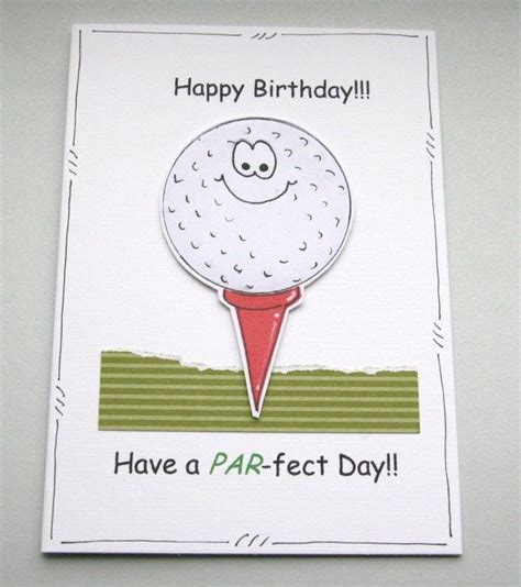 personalised golf happy birthday s day handcrafted card p