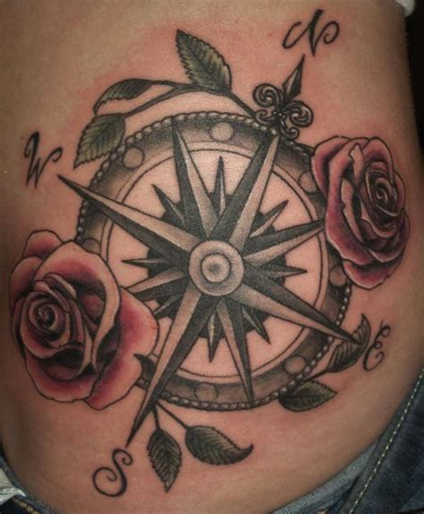 compass tattoo side compass tattoo images designs
