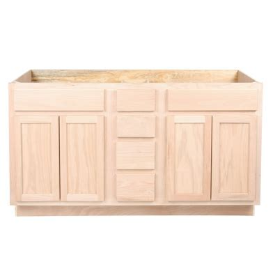 """Unfinished Drawers and Sink Base Vanity Bathroom Cabinet 60"""""""