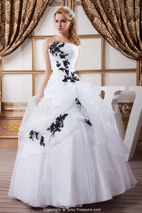 Black And White Wedding Dresses by 30 Black And White Wedding Dresses Combination Fashion Fuz
