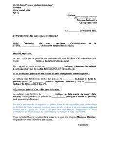 Conseil Lettre De Demission Application Letter February 2016