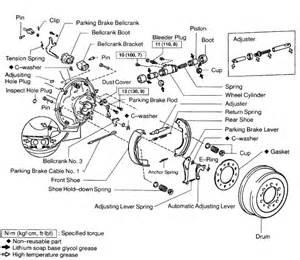 Toyota Tacoma Brake System Diagram 2001 Toyota Tacoma 4 Wheel Drive 4 Door Cylinder Rear