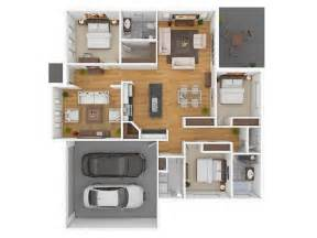3 bedroom garage apartment floor plans 3 bedroom apartment house plans