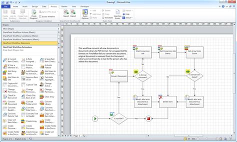 8 best images of visio workflow diagram exles visio