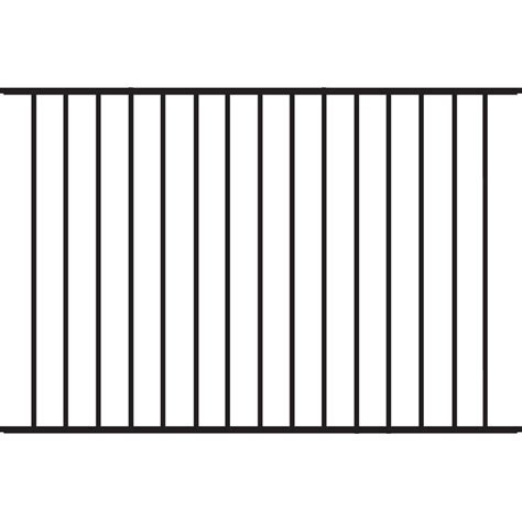 Home Depot Beechmont by Tuffbilt Beechmont Standard Duty 4 Ft H X 6 Ft W Black Aluminum Pre Assembled Fence Panel