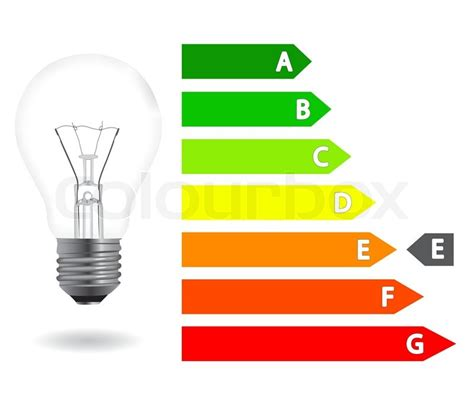 energy efficiency light bulb stock vector colourbox
