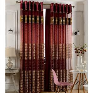 faux silk wine color insulated blackout curtain living room