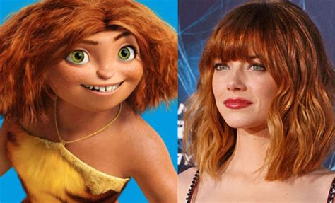 emma stone voice acting animated characters who look just like their voice actors