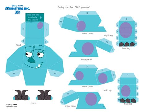 Papercraft Monsters - m 225 s imprimibles gratuitos en http www fiestuqueando