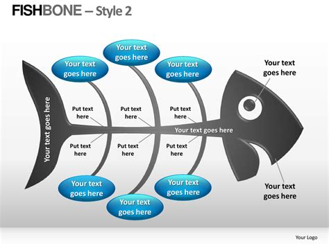 Fishbone Style 2 Powerpoint Presentation Templates Ppt Slide 2