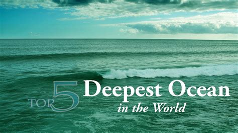 average depth top 5 deepest in the world by average depth