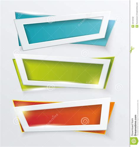 modern home design vector vector modern banners or frames element design stock