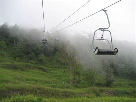 patriata new murree a chair lift view with rainy weather