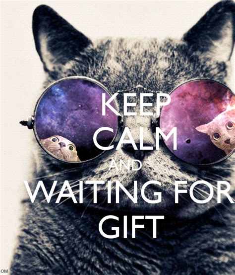 Gifts For Our In Waiting by Keep Calm And Waiting For Gift Poster Bogdanpisica94