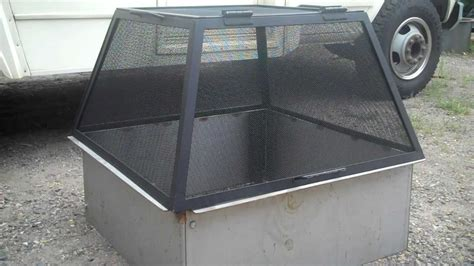 diy pit screen american made pit spark screen higleyfirepits