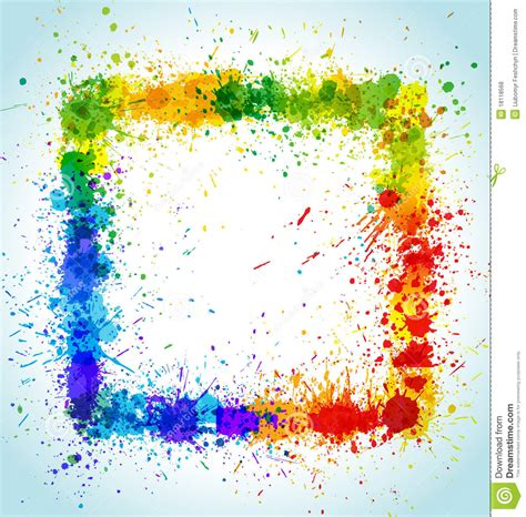 color paint splashes square background royalty free stock photos image 18118568