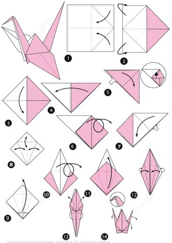 How To Fold Paper Into A Bird - origami bird free printable papercraft