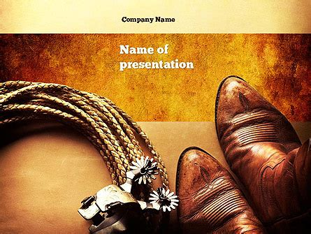 western powerpoint template cowboy theme presentation template for powerpoint and