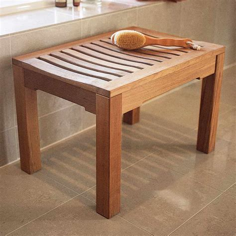 teak shower bench wood shower benches top tips to care for them household guardians
